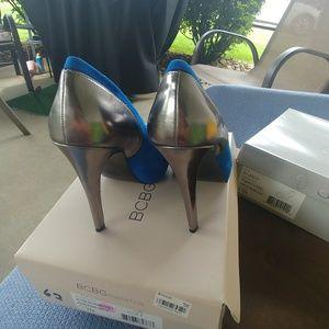 BCBGeneration Shoes - BCBG max azria Paeyton blue suede high heel pumps